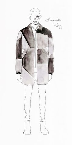 Alexander Wang #fashion_illustration #men