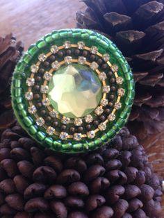 Prendedor de guardanapo verde um luxo!!!!