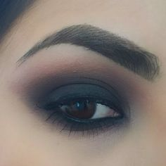Matte Smokey with Naked Basics. Crave on lid and under eye. Blend into Faint in crease and outer corner. Blend into Naked above crease. Use Walk of Shame (WOS) under brow.