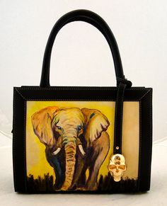 Handmade Tattoo Bag: Double Face Small (Noble Elephant)