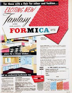 Vintage Formica® Brand Ad from 1959 #TBT