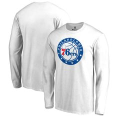 Philadelphia 76ers Fanatics Branded Team Primary Logo Long Sleeve T-Shirt - White