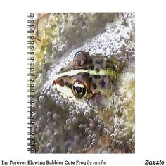 I'm Forever Blowing Bubbles Cute Frog Notebook #s6
