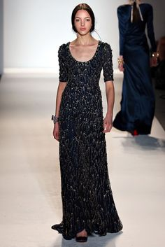 Jenny Packham Fall 2013 Ready to Wear Collection at New York Fashion Week - I could pin this whole collection. Couture Fashion, Runway Fashion, High Fashion, Fashion Show, Fashion Outfits, Fashion Design, Dress Fashion, Beautiful Cocktail Dresses, Beautiful Gowns
