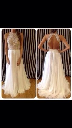 Sexy New High Neck Prom Dress Beaded Open Back Long Formal Party Evening  Gowns 400a5e0f78ad