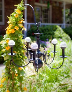 Outdoor Solar Chandelier by CrazyDaisyGardens on Etsy