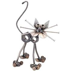 Nuts the Cat - Yardbirds Sculpture by Richard Kolb (created with scrap and recycled parts):