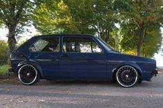 #MK1 Golf #black wheels #slammed