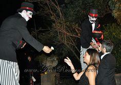 #Zanquistas #circo #años20 en #palaciosanssouci #wedding cocktail #contenidosartisticos producido por www.anaromans.com #creativeevents
