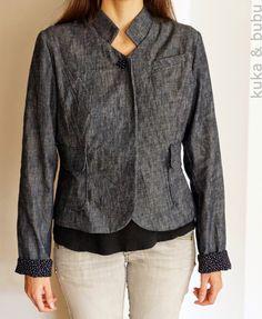 kuka and bubu: Denim jacket (from Burda) – Chaqueta tejana (de Burda)