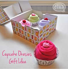 Baby sock cupcakes video craftastic passion a cute and easy cupcake onesies gift idea video instructions negle Choice Image