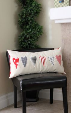 long lean heart pillow cute idea for girls :)