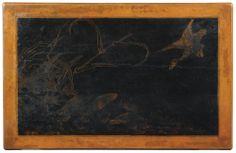 Table en laque incisée, dynastie Qing, XVIIIe siècle