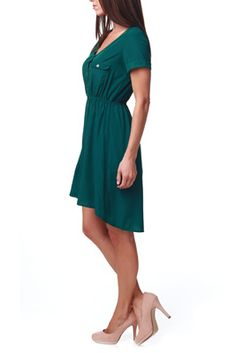 Green Button Up Nursing Dress  I want to make