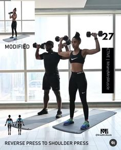 Fitness Workouts, Arm Workouts At Home, Full Body Hiit Workout, Gym Workout Videos, Fitness Workout For Women, Workout Guide, Fitness Motivation, Pilates Workout, Fitness Studio Training