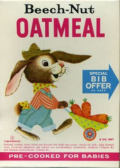 Cute breakfast cereal vintage box art #Breakfast #Cereal #Kellogs #Post