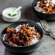 Spiced Sauteed Glazed Lamb Morsels With Spiced Onion Confit+Raiita Chef Recipes, Cooking Recipes, Meal Recipes, South African Dishes, Recipe Collection, Main Meals, Lamb, Onion, Main Dishes