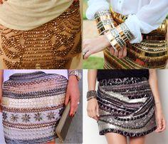 Uma saia bordada tem o poder de deixar o look super poderoso. Hoje não precisa de uma ocasião especial pra usar a peça. Se a ocasião pedir algo mais formal, vale investir nos acessórios e nas camis…