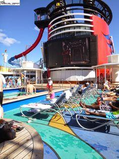 Pool areas aboard the Disney Magic Cruise Ship Mediterranean cruise/May, June 2018 Cruise Travel, Cruise Vacation, Disney Vacations, Dream Vacations, Vacation Trips, Vacation Travel, Disney Magic Cruise Ship, Disney Cruise Tips, Best Cruise