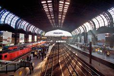 Der Hauptbahnhof in Hamburg