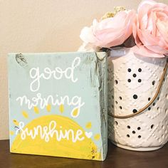 Your place to buy and sell all things handmade Sunshine Homes, Aqua Paint, Good Morning Sunshine, Nursery Signs, Precious Children, Morning Messages, Yellow Painting, Home Decor Signs, Bathroom Signs