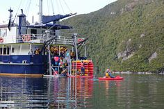 Real Journeys operate Discovery Cruises (multi-day) using the Milford Wanderer, Fiordland National Park, New Zealand.
