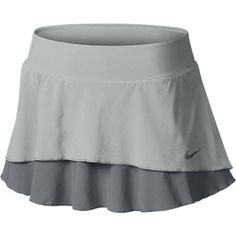 Nike Flouncy Woven Women's Tennis Skirt - Strata Grey, S ($58) ❤ liked on Polyvore