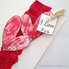 How to make a card for Valentine's Day - Fragmentos ao Sol