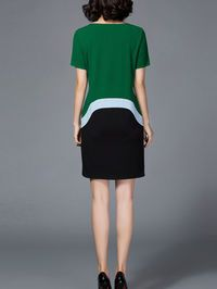 Color-block Mini Dress