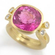 Mark Nuell. Ring with pink tourmaline and diamonds - from 5K pounds