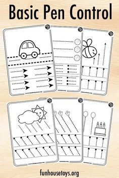 Our pen control and tracing printables are a fun way to teach toddlers how to hold and use a pen. Laminate these printables and make it easy to just wipe-clean each time practicing. Pre K Activities, Preschool Learning Activities, Preschool At Home, Preschool Printables, Preschool Worksheets, Writing Activities, Kids Learning, Preschool Fine Motor Skills, Preschool Writing