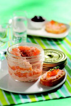 Salmon rillets with Le Parfait #LeParfait #jars