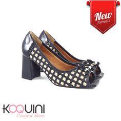 Peeptoe em couro com detalhes pathwork na altura ideal do conforto #koquini #comfortshoes #euquero Compre Online: http://koqu.in/2cVlU3A