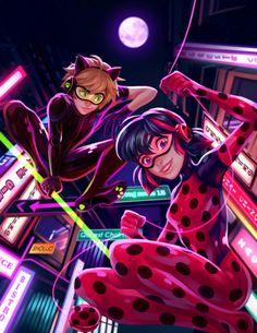 Miraculous Ladybug And Chat noir style electro/flash Miraculous Ladybug Wallpaper, Miraculous Ladybug Fan Art, Bugaboo, Los Miraculous, Ladybug Und Cat Noir, Film Manga, Marinette Et Adrien, Meraculous Ladybug, Ladybugs