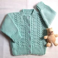 Age 1 to 2 years Toddler knitted cardigan Childs by LurayKnitwear, $32.00