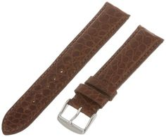 HadleyRoma Mens MS2010RB200 20mm Tan Genuine Alligator Leather Watch Strap >>> Read more  at the image link.