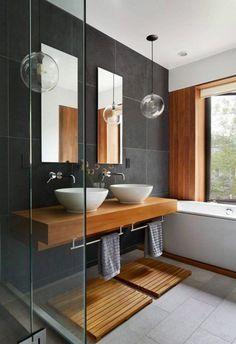 """Résultat de recherche d'images pour """"carrelage sol gris foncesalle de bain"""""""
