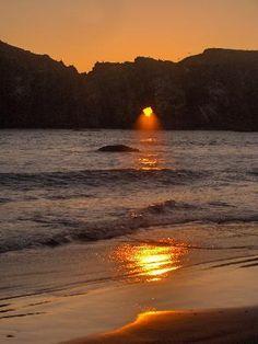 Elephant Rock at Sunset