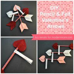 Handmade Valentine's Arrows for Kids #ValentinesDay #kidscrafts #handmade #Valentines