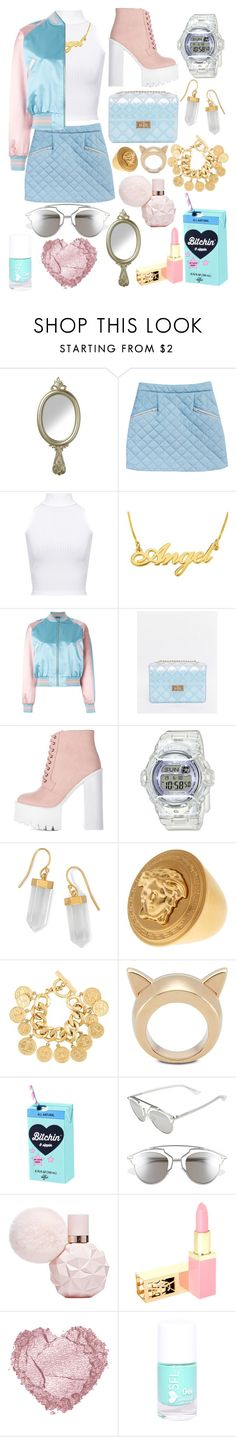 """""""You smell like a baby prostitute"""" by walkeralexzandreia ❤ liked on Polyvore featuring WearAll, Alexander McQueen, ASOS, Baby-G, BillyTheTree, Versace, Chanel, STELLA McCARTNEY, Valfré and Christian Dior"""