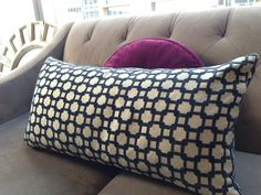 Add a little color and texture to your simple pallet with pillow. I love this trellis pattern I found at HomeGoods!