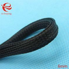 10 M 6mm Revestimiento Auto Aprovechamiento De Alambre Negro Trenzada Enfundado Cable Eléctrico Marinos
