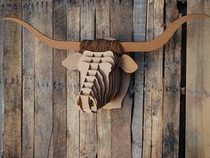 Trends: animal trophy heads   Homegirl London - Tex Jr. Brown Texas Longhorn Cow Trophy Head