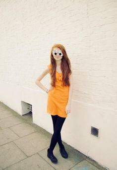 1980's orange body-con dress   Joanie's Junk   ASOS Marketplace