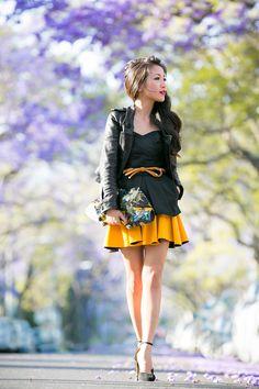 Purple Skies :: Vintage corset & Marigold flounce skirt : Wendy's Lookbook