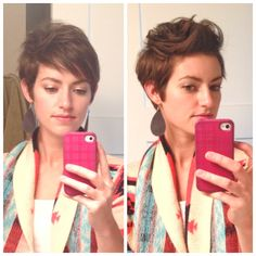Really cute pixie cut styling from Maybe Matilda