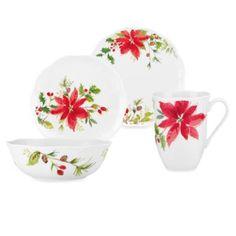 Lenox® Winter Meadow Poinsettia Dinnerware - BedBathandBeyond.com