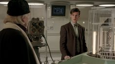 "One of the most beautiful moments in ""An Adventure in Space and Time"". <--- I started to cry, not ashamed, the fact not a single word was said it it was all just the intensity of the 2 together, like bill was looking at Matt like ""I am proud of what this has become"" and Matt ""thanks for getting it started"""