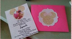 A personal favorite from my Etsy shop https://www.etsy.com/listing/516993667/gold-minnie-mouse-birthday-invitation