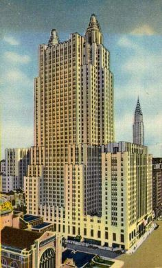 NY Architecture Images-Midtown- Chrysler Bld.& Waldorf-Astoria Hotel- architect Schultze & Weaver location 301 Park Ave., between E49 and E50. date 1929-1931 style Art Deco construction Base is of granite facing, and the upper facade is clad in brick and limestone. type Hotel Waldorf=Astoria Hotel and Park Avenue with Helmsley Building and Met Life Building in backgroundThe Waldorf-Astoria Hotel is a famously luxurious hotel in New York. It has been housed in two historic landmark buildings…
